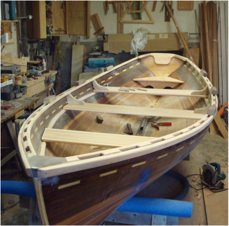 Thwarts, knees and oarlock  blocks cosine wherry