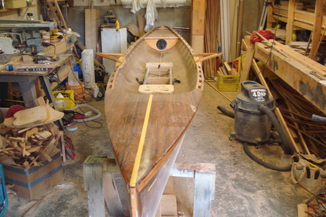 sliding seat and riggers on row boat