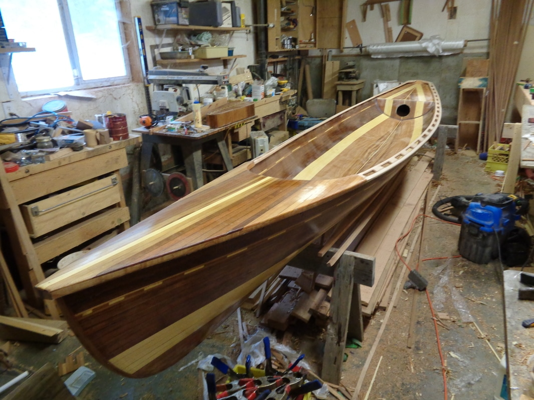 sliding seat rowboat decks and gunwales