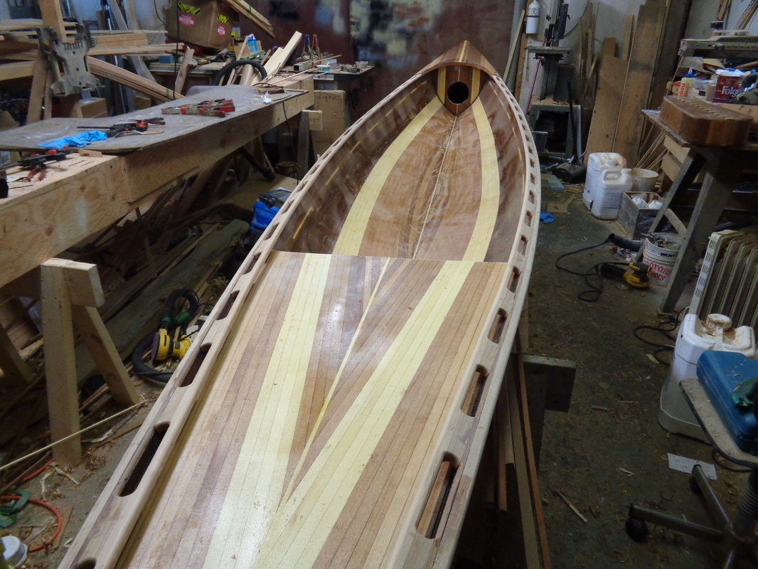 sliding seat wherry from stern